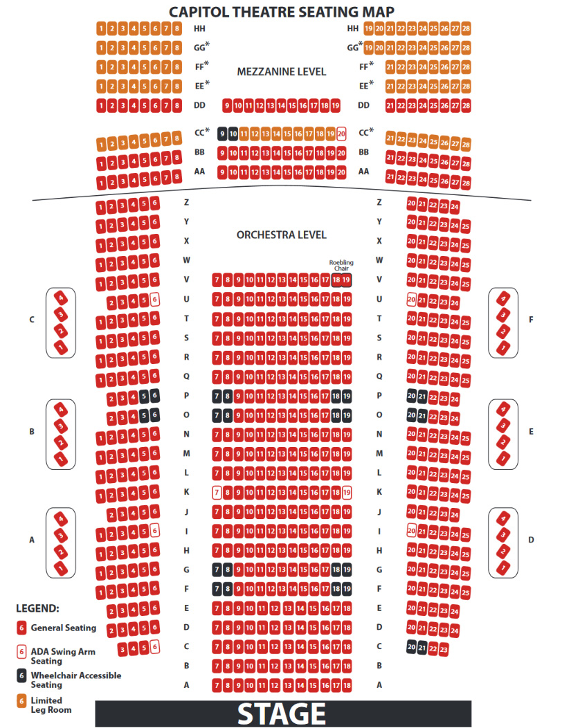 CAP Seating Chart